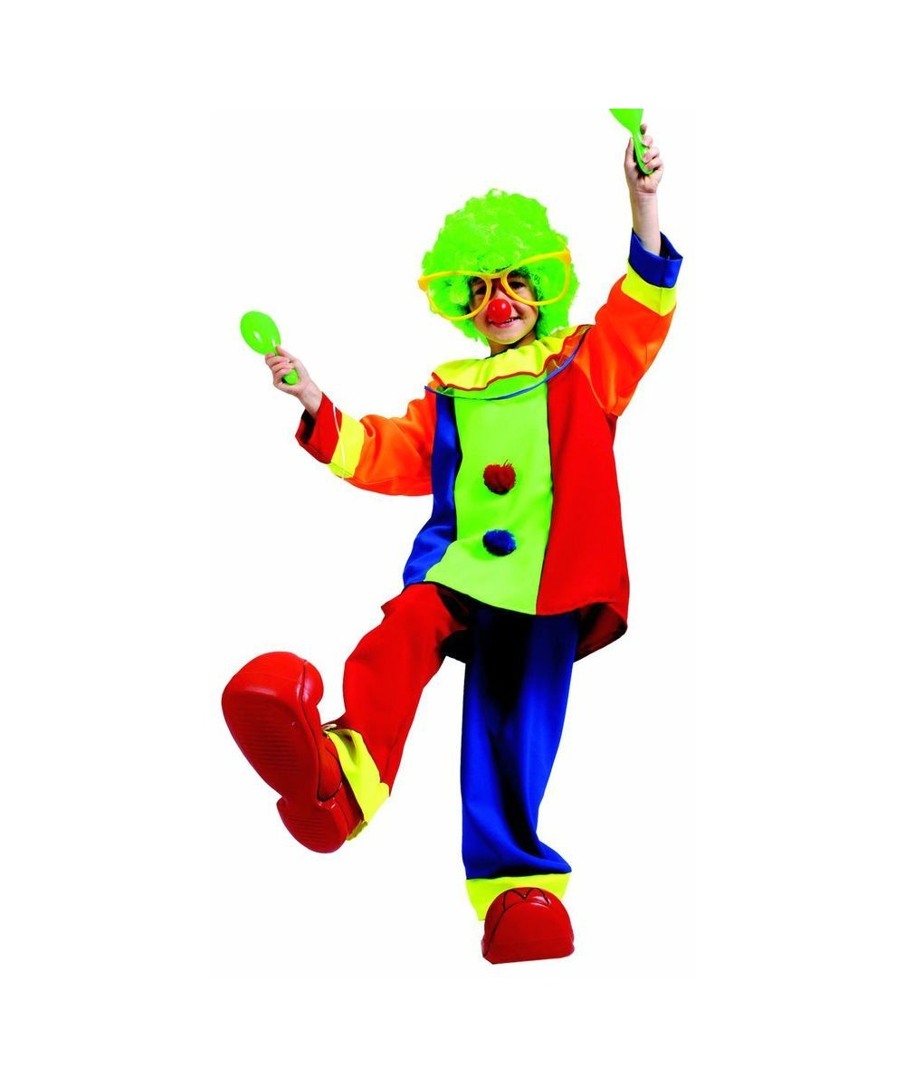 Bobo Clown Kids Costume