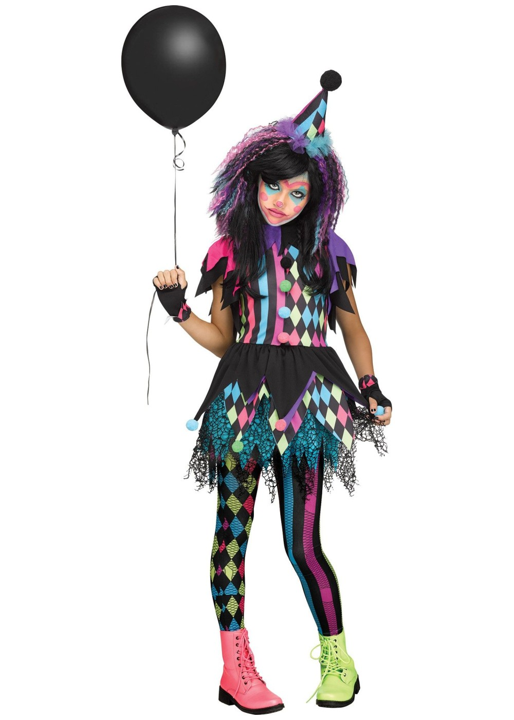 Girls Circus Clown Costume