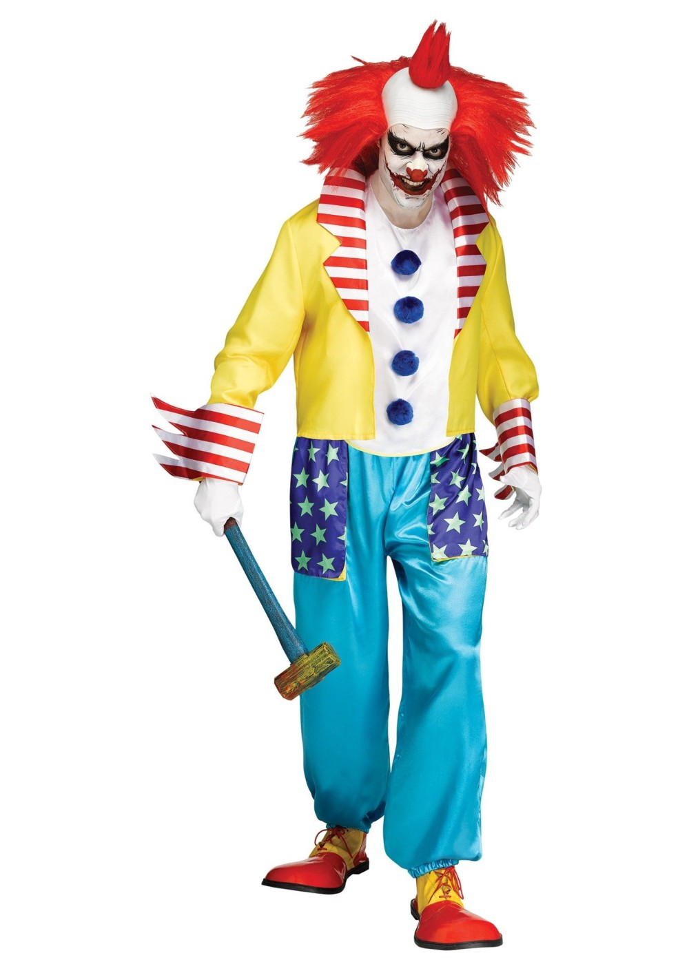 Scary Clown Men Costume