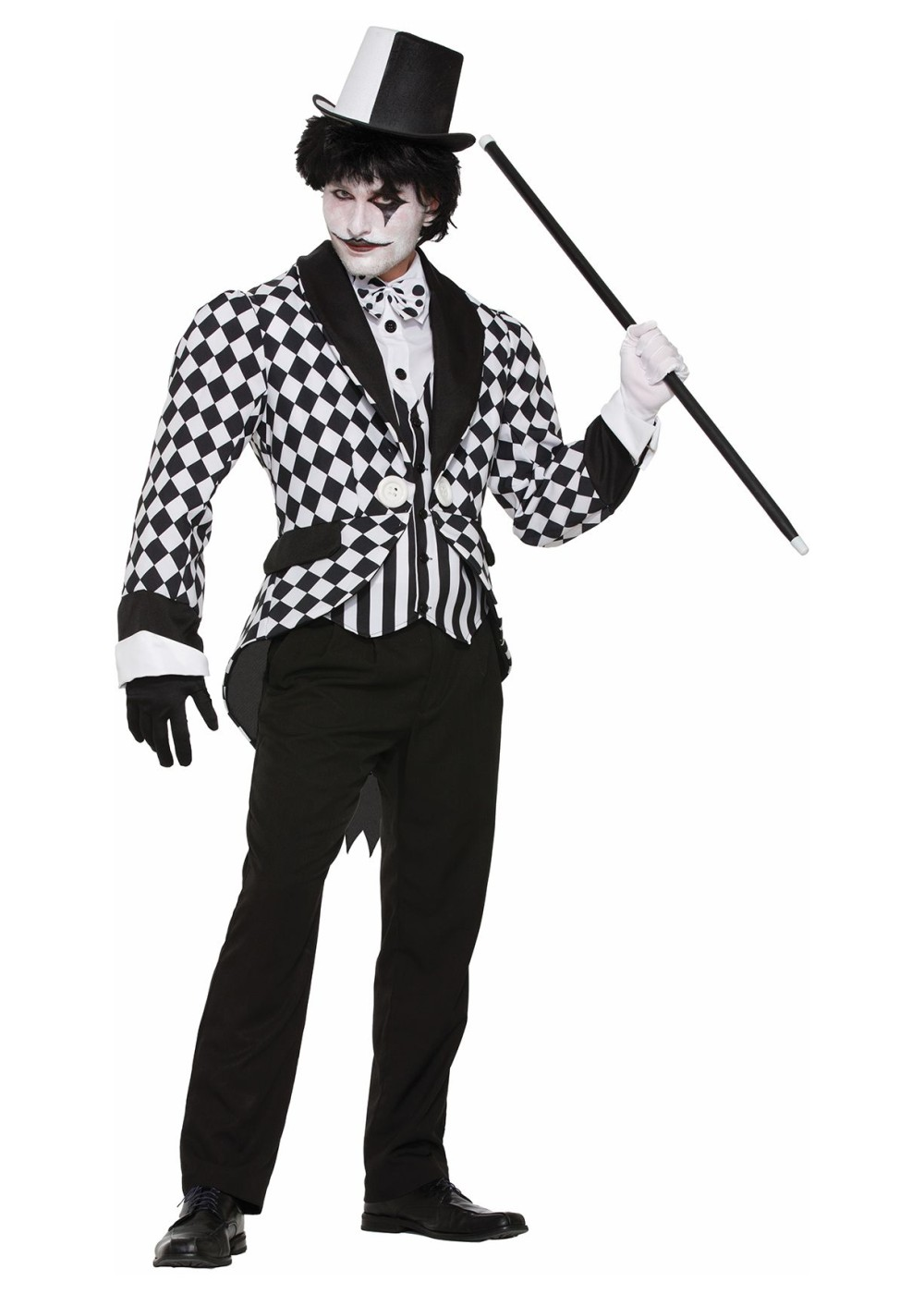 Harlequin Tail Coat Costume For Men