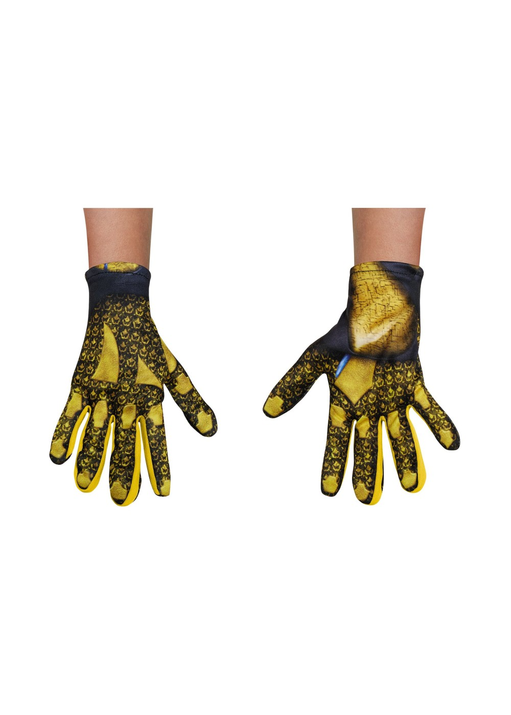 Power Rangers Movie Yellow Girls Costume Gloves