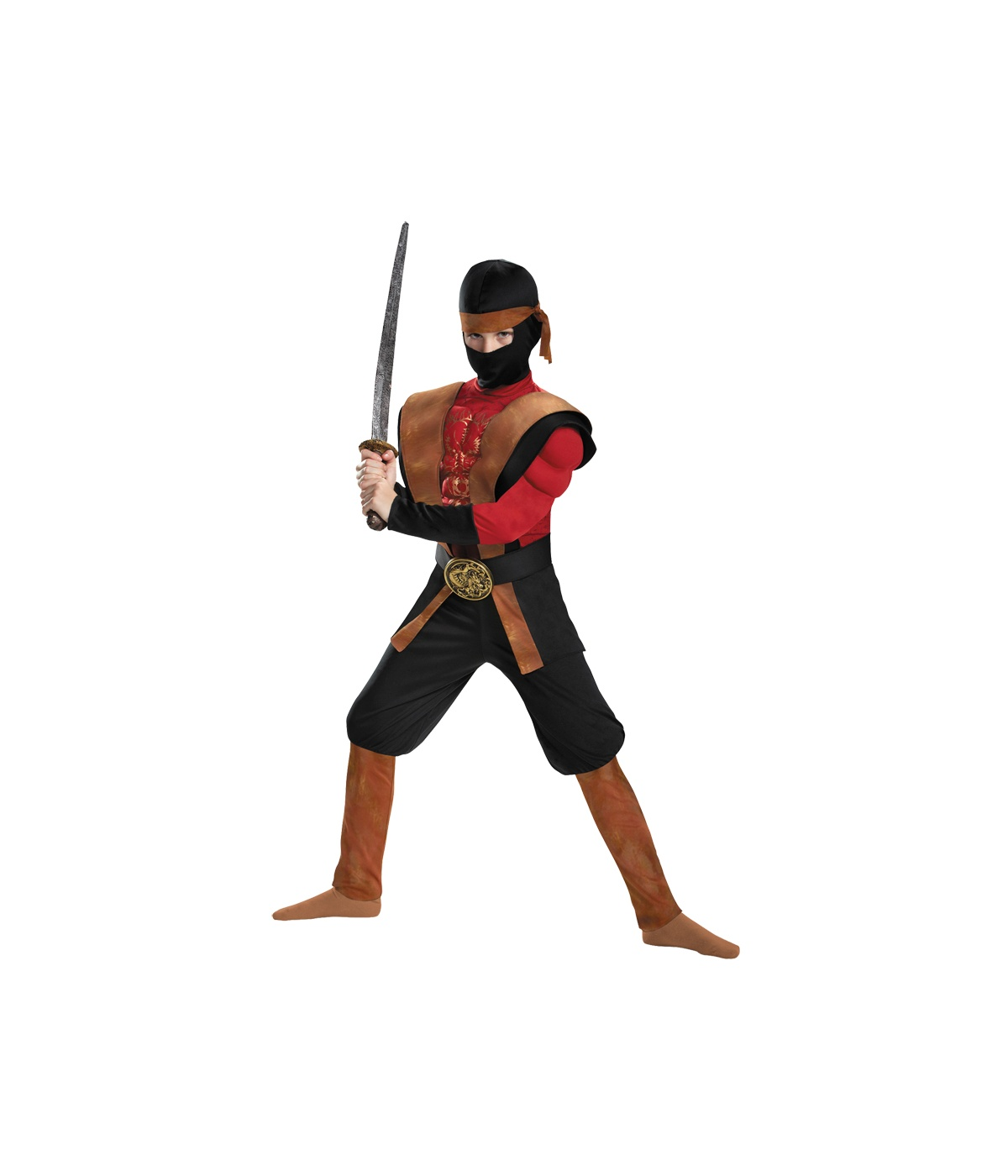 Red Venom Ninja Warrior Big Boys Muscle Costume