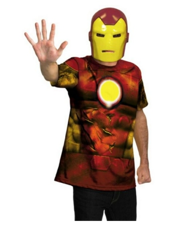 Iron Man Shirt And Mask Costume