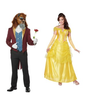 Beast Men And Belle Women Couples Costumes