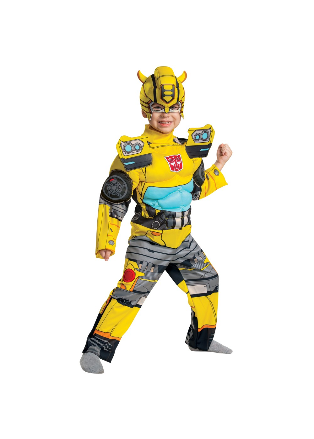 Boys Bumblebee Muscle Toddler Costume