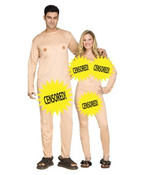 Couples Nude Censored  Costume
