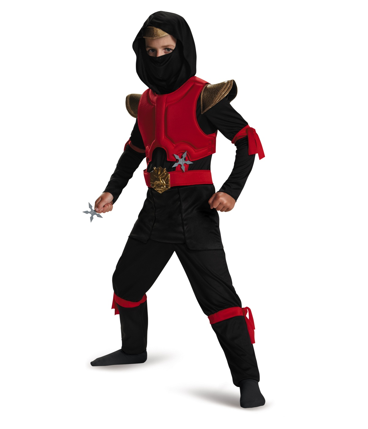 Red And Black Ninja Boys Costume