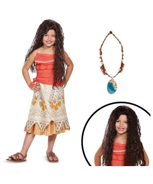 Disneys Moana Girls Costume Kit