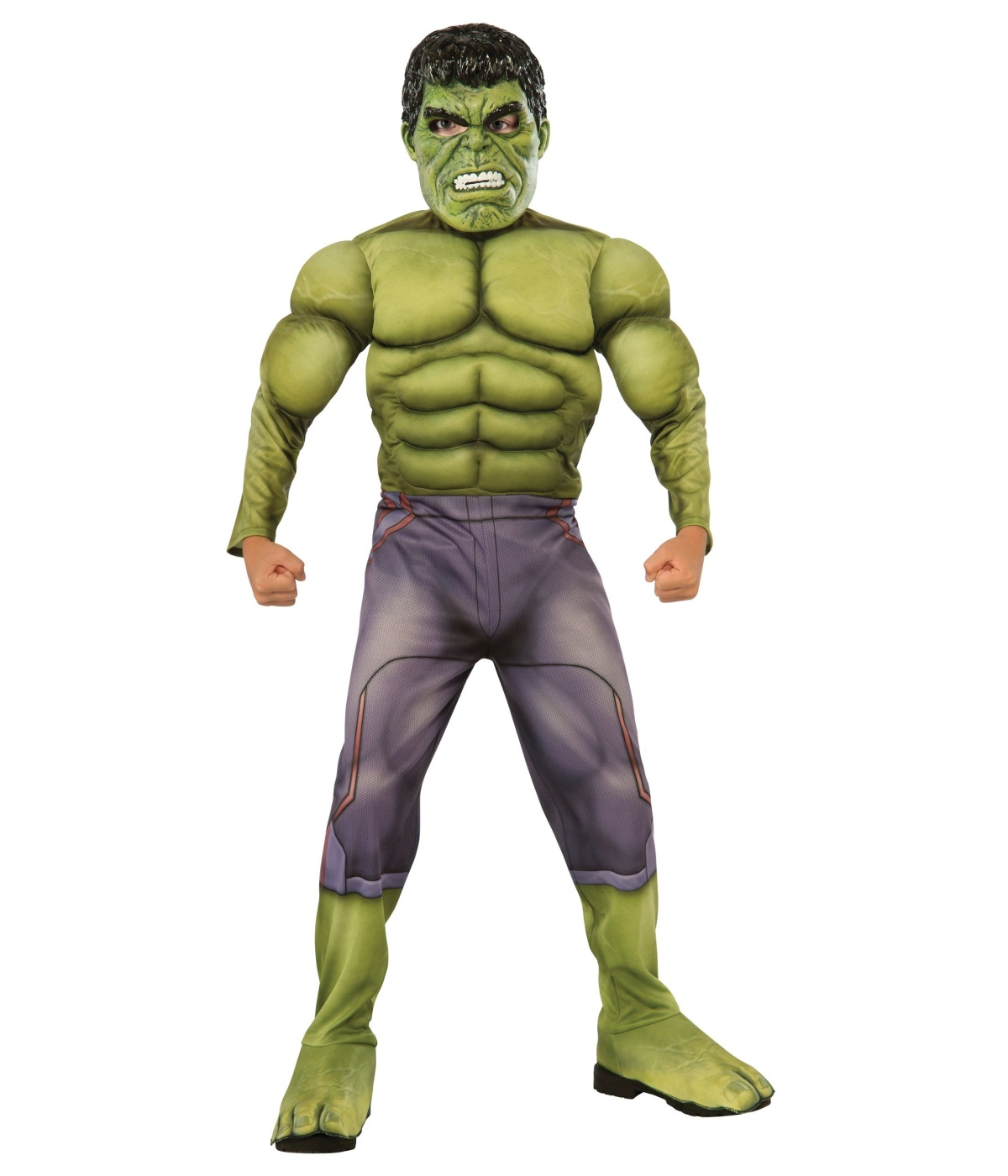 Marvel Incredible Hulk Boys Costume Superhero Halloween Party