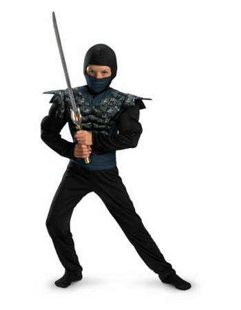 Night Camo Muscle Ninja Costume