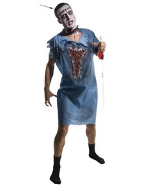 Zombie Patient  Gown Costume