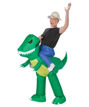 Adult Inflatable Dinosaur Rider Costume