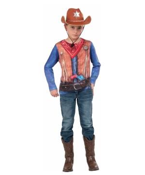 3d Cowboy Sheriff Boys Shirt