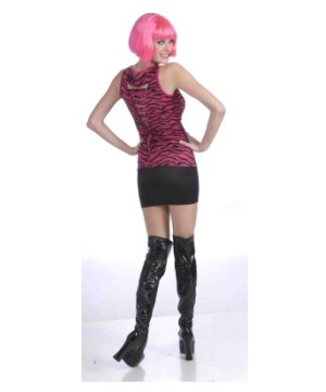 80s Pink Zebra Shirt Adult Costume