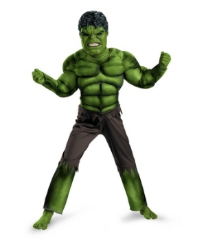 Avengers Hulk Muscle Kids Costume