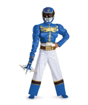 Blue Ranger Megaforce Muscle Kids Costume