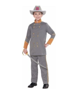 Confederate Officer Kids Costume