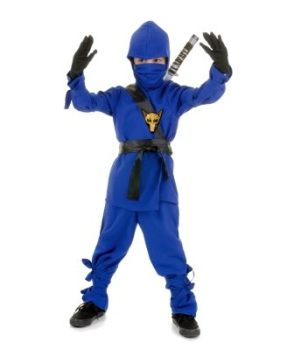 Ninja Kids Costume Blue