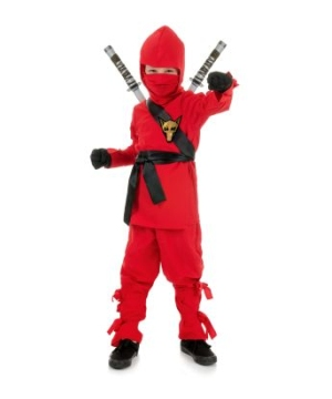 Ninja Kids Costume Red