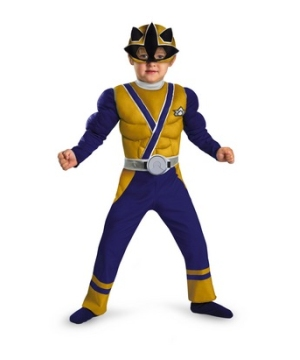 Power Ranger Samurai Gold Ranger Muscle Kids Costume