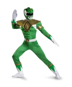 Ranger Muscle  Costume Green
