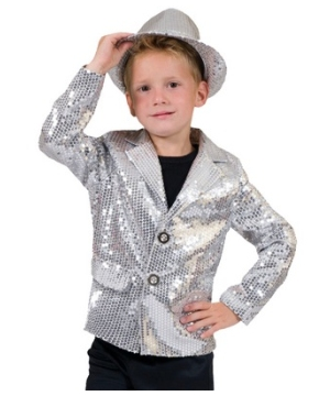 Silver Disco Kids Costume