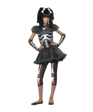 Skeleton Girl Kids Costume
