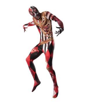 Circus Freak Acrosplat Skin Men Suit Costume
