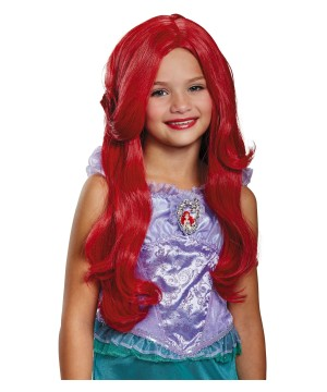 Girls Ariel Costume Wig