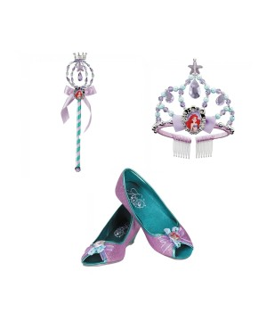 Disney Princess Ariel Wand Tiara And Shoes Girls Accessory Set