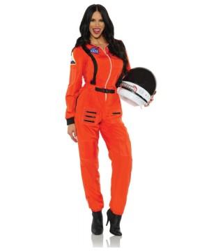 Astronaut Orange Woman Costume