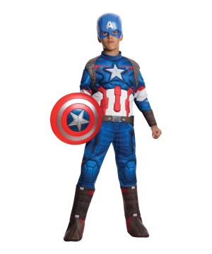 Marvel Captain America Boys Avenger Comics Halloween Costume Deluxe