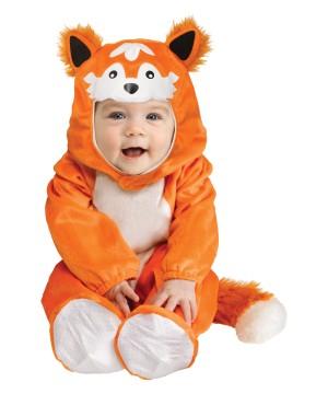 Baby Boys Orange Fox Soft Halloween Costume