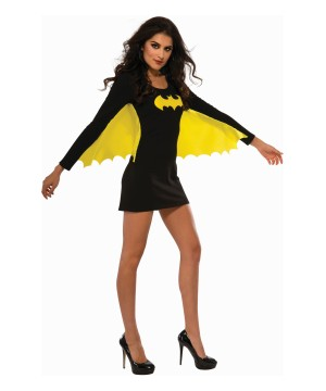 Stylish Superhero Batgirl Dress With Wings Women Costume