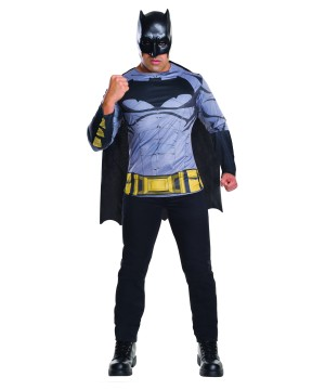 Batman V Superman Movie Batman Shirt Mask And Cape For Men