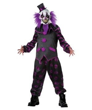 Scary Bearded Clown Man Costume