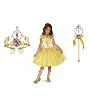 Disney Princess Belle Costume Tiara And Wand Kit