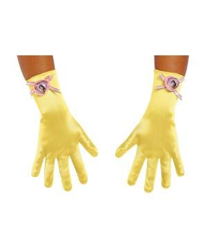 Girls Belle Costume Gloves