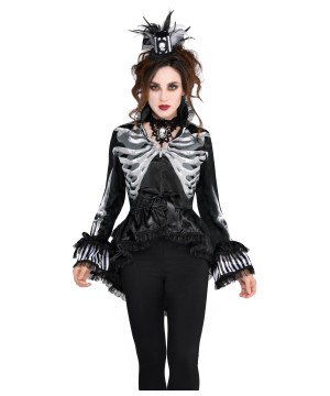 Gothic Black And Bone Jacket For Women