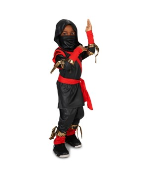 Black And Red Stealth Ninja Toddler Costume