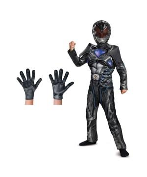 Black Power Ranger Movie Boys Costume Set