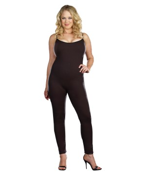 Plus Size Black Women Unitard