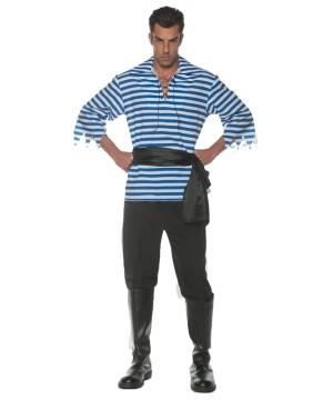Blue Men Pirate Costume