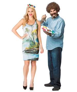 Bob Ross Dress Couples Costume