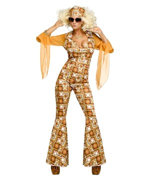 1970s Disco Diva Boogie Down Women Costume