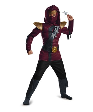 Crimson Ninja Classic Muscle Boys Costume
