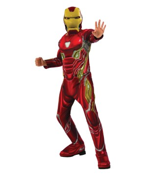 Boys Endgame Iron Man Mark 50 Suit Costume Deluxe