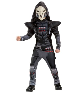 Boys Reaper Overwatch Muscle Costume
