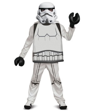 Boys Stormtrooper Deluxe Costume Lego Star Wars
