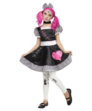 Cracked Broken Doll Girls Costume